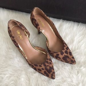 Mossimo Target Leopard Print D'Orsay Heels Size 6